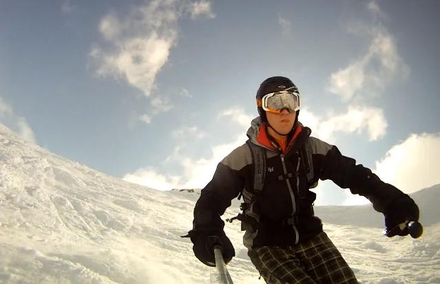 Diy Gopro Pole Mount Using Old Ski
